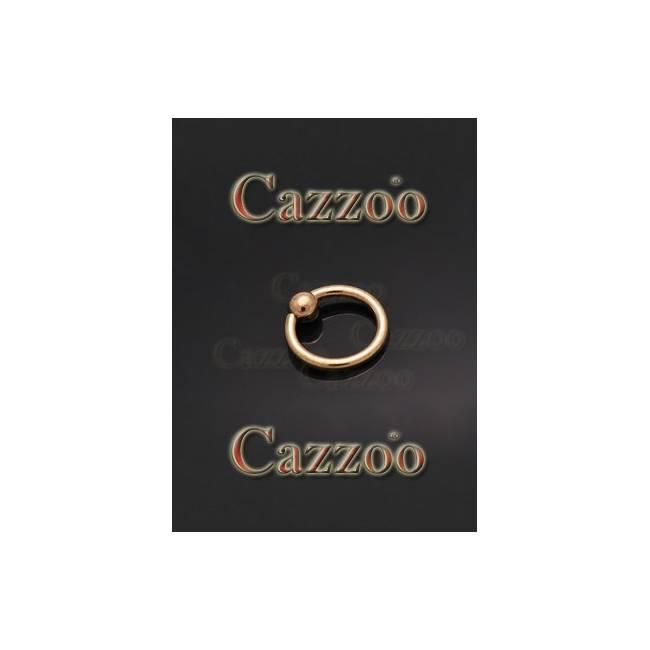 Guld captive piercing ring BCR