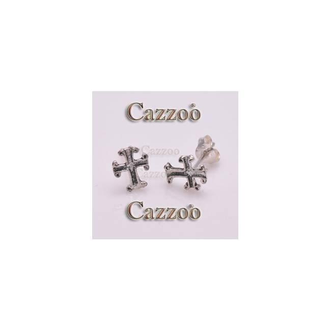sølv ørestikker med smukke kors i keltisk stil øreringe