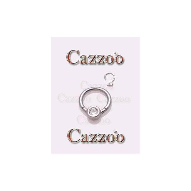 smart piercing clicker ring med klar sten