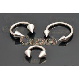 HRS1 halvrund piercing smykker med spikes
