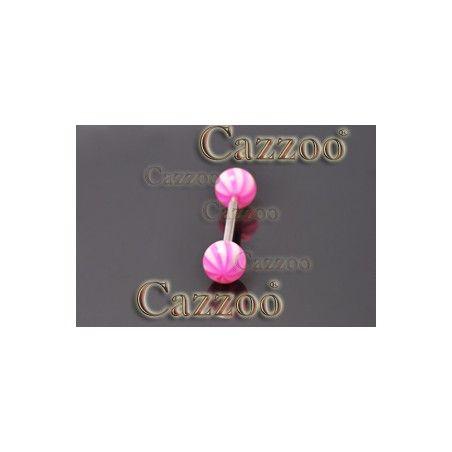 TP290 tungepiercing smykker med acryl kugler