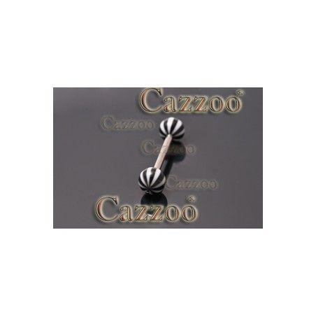 TP289 tungepiercing smykker med acryl kugler