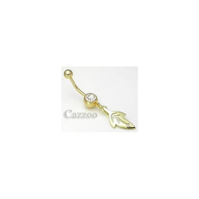 NGP101 navle piercing med vedhæng