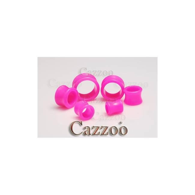 PL140 Pink Acrylic tunnel stretch smykker