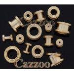 GPT15 Forgyldt 14k screw on Plug 4 til 10mm GPT15 Forgyldt 14k screw on Plug 4 til 10mm stretch øreringe piercing GPT15