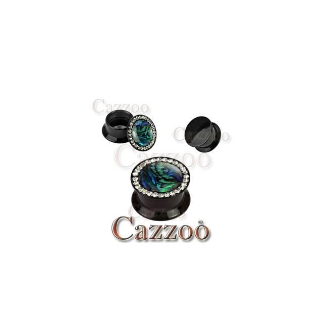 PL148-1 Acrylic plug med sten