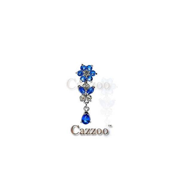 NP541 Navle Piercing med vedhæng smykker