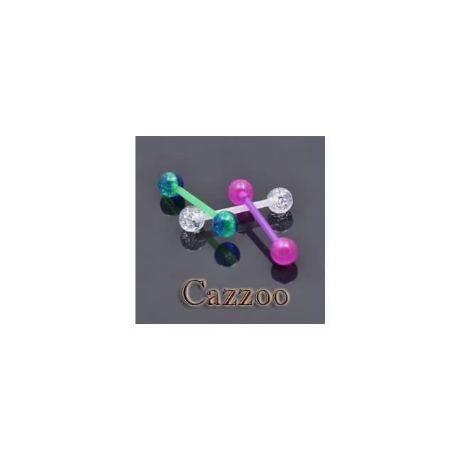 TPPF4 3stk Flexibel tungepiercing smykker pak